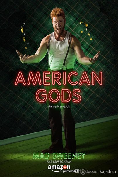Free Shipping American Gods TV Show Madsweeney High Quality Art Posters Print Photo paper 16 24 36 47 inches