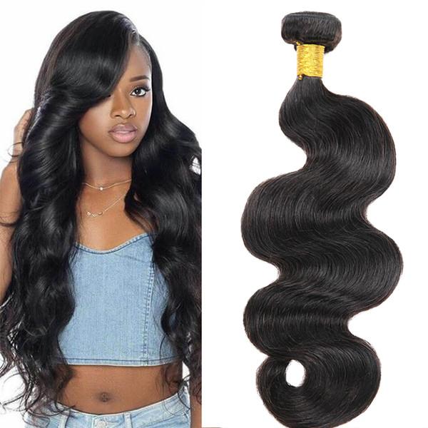 7A Grado Brasileño Body Wave 4 Paquetes 100% Sin procesar Armadura de cabello humano Paquetes Trama Remy Extensiones de Cabello Color Natural