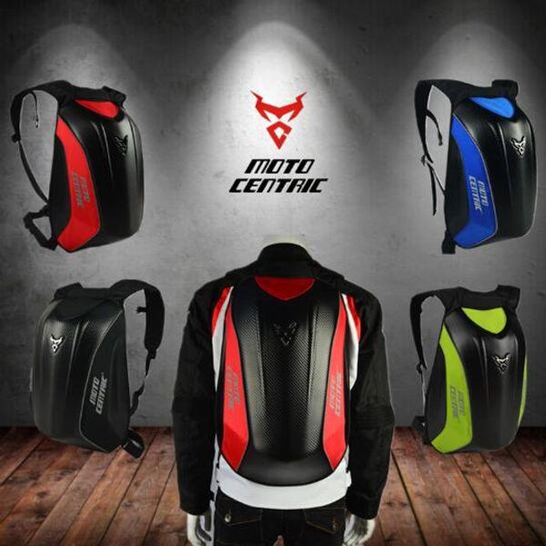 2018 MOTOCENTRIC motorcycle backpack hard shell off-road motorcycle waterproof bag reflective helmet carrying bag