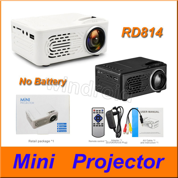 RD814 Mini Projector LCD LED Portable pocket Projector RD-814 Home Theatre Cinema Multimedia LED USB Kids Child Video Media Player DHL 10pcs