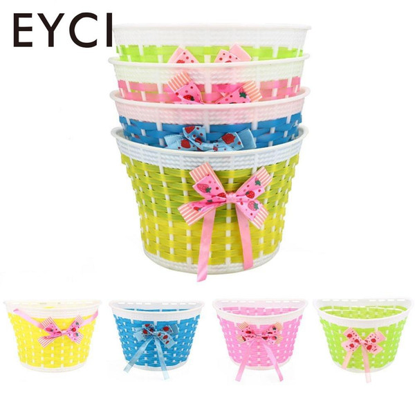 EYCI Bicycle Panniers Bike Bowknot Front Shopping Detachable Basket For Kids Girl