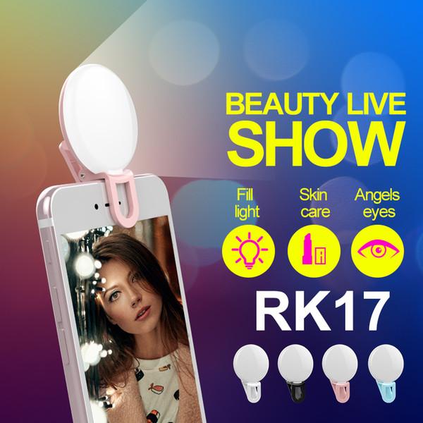Luce di emergenza a LED per auto universale RK17 Luce di riempimento a LED per 9 lampade Premium per iPhone X / 8/7 Samsung S9 / S8 / S7