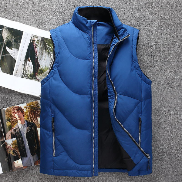 Designer brand Men winter down vest feather weskit jackets mens casual vests coat mens down coat outer wear plus size:M-XXXXL 1818A