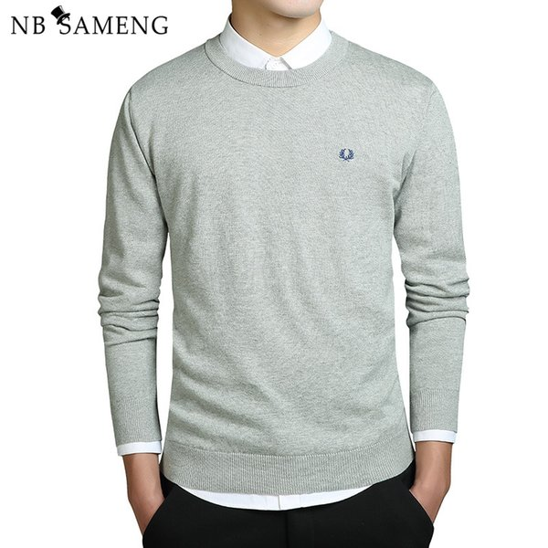 top popular 2018 New Fashion Men Winter Embroidery Sweaters O-Neck Long Sleeve Knitted Sweatercoat Imported-clothing Plus Size 3XL 2019