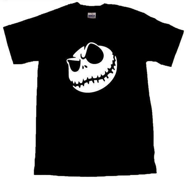 Зло Джек Скеллингтон прохладный футболка всех размеров # черный