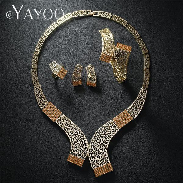 Ayayoo Jewellery Sets For Women Imitation Crystal Bridal Jewelry