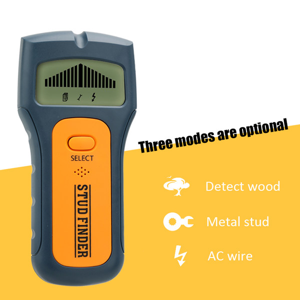 High quality 3 in 1 Metalldetektoren LCD Display Handheld Metall Holz Ohrstecker AC Spannung Live-Draht erkennen TS79 Wand Scanner elektrische Box Finder
