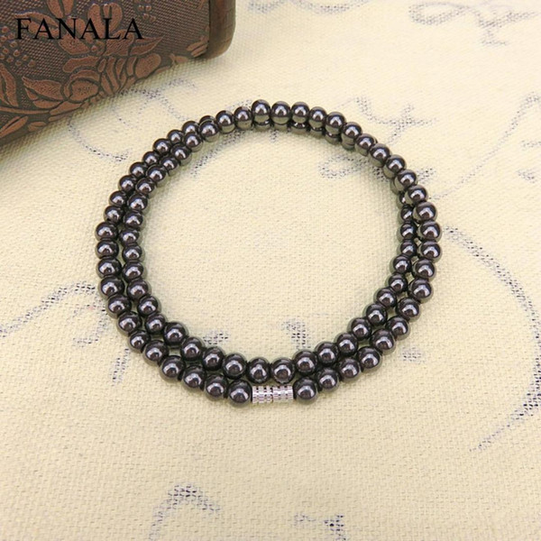 Care 8mm Necklace 6mm Gun Hematite Necklaces Health Hematite Men Magnetic Natural Chain Black  Faceted Jewelry Women Chain