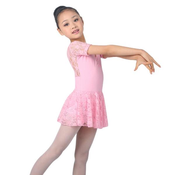 dresses 2018 New Girls Dress Girl Clothing Kids Ballet Tutu Gymnastics Dresses For Girls Lace Dance Leotard Costumes