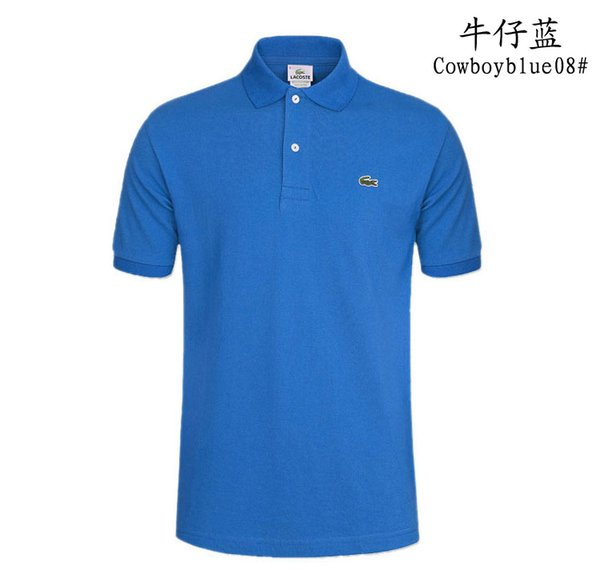 2018, sales of low-cost business men's clothing brand, luxury fashion men's short sleeve T-shirt summer shirt is free shipping