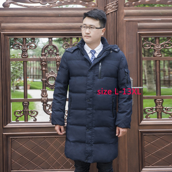 New with hood Down Jacket Men Thicker filler480g White Duck Down Casual high quality mens Extra large plus size L-11XL12XL13XL