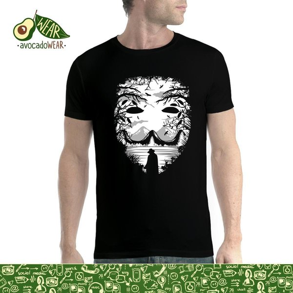 Maniche corte 100% cotone T-shirt Maschera Beautiful Nature Uomo XS-5XL Nuovo