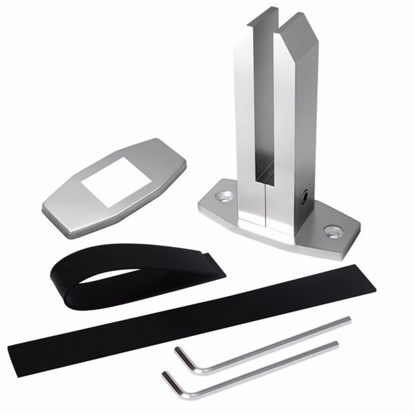 top popular Frameless Glass Spigot Pool Fence Fencing Spigots Square Aluminum Glass Swimming Pool Fence Clamp Glass Balustrade 2021