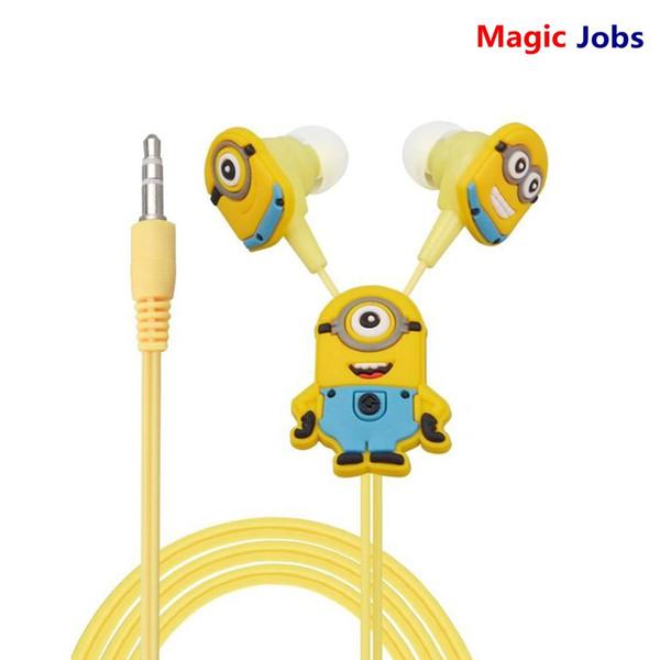 Compre Magicjobs Minions Dos Desenhos Animados De Ouvido Com Fio De 35mm Fone De Ouvido Para Mp3 Mp4 Celular Com Tampa Do Tampão Ep338 De