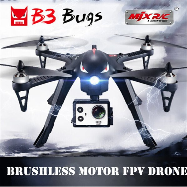 2018 MJX B3 Bugs 3 RC Drone Helicopter Brushless Motor Remote Control Quadcopter with Camera Mount for Gopro/Xiaomi/Xiaoyi Camera