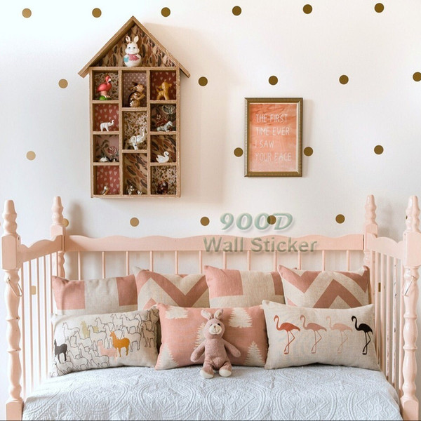 Gold polka Dots Wall Sticker Wall Decal, Removable home decoration art Decor Free Shipping