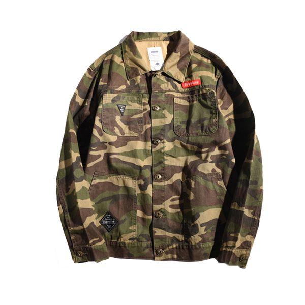 Más el tamaño 5XL Ropa de otoño de los hombres de camuflaje chaqueta de mezclilla ejército ropa táctica Multicam Camuflaje masculino rompevientos