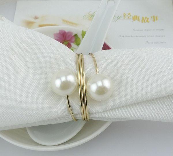 4pcs / lot nouvelle boucle de serviette de nacre, argent cerceau hôtel table de décoration de table anneaux, cercle