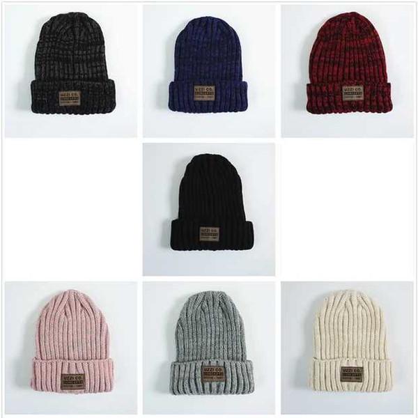 Gençlik sonbahar / kış örme şapka erkek / kız / erkek / erkek / kız / erkek / kız kafa şapka öğrenciler için / kürk etiket yün şapkalar