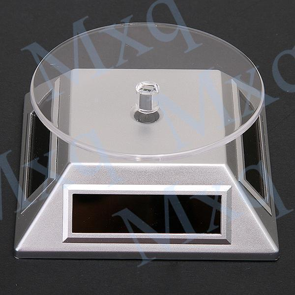 Wholesale-Exhibition Stand Solar Auto Rotating Display Stand Rotary Turn Table Plate For mobile MP4 Watch jewelry VIP Store