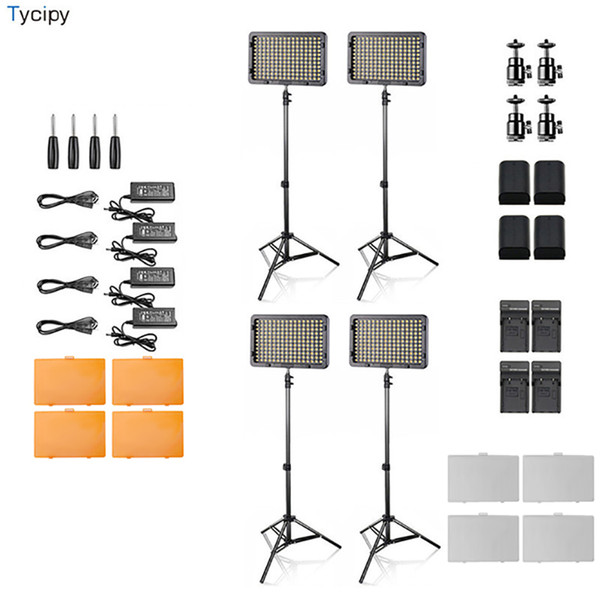 wholesale 176 LED Dimmable Video Light Rechargable Light (White & Warm Light) for DSLR Camera Videolight Wedding Recording