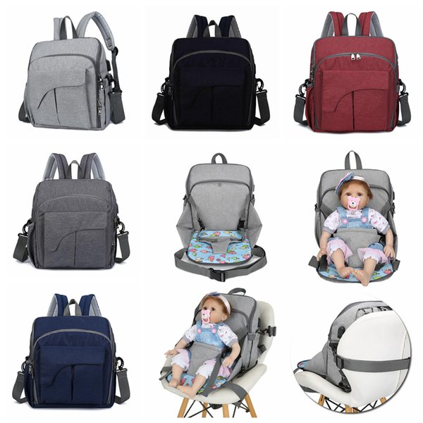 USB Wickeltasche 5 Farben Mutterschaft Reiserucksack Designer Babypflege Kinderwagen Handtasche Babysitz Pflegetasche OOA5931