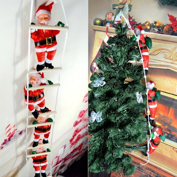Ladder Christmas Tree.Christmas Home Pendant Ladder Christmas 2019 Santa Claus Doll Tree New Year Hanging Pendant Decorations Drop Ornaments Decorated Homes For Christmas