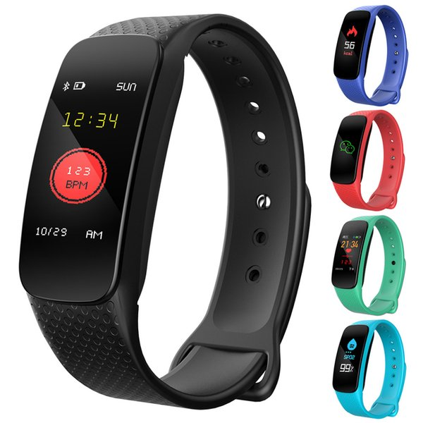 GYKZ Smart Wristband L6 Fitness Tracker Heart Rate Band Blood Pressure Pedometer Smartband Waterproof Sport Bracelet Band Watch
