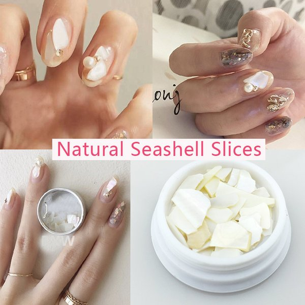 Natural Seashell Slices Pearl Light Nail Seashell Slices Particle