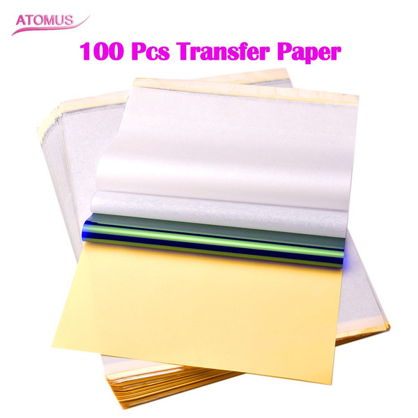 100pcs Thermal Stencil Transfer Paper Tattoo Transfer Paper A4 Size For Tattoo Transfer Machine Supply Free Shipping