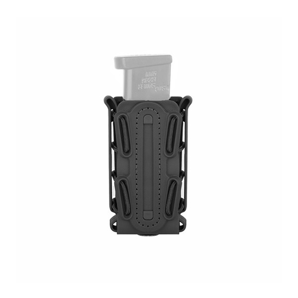 Tactical MOLLE Scorpion Soft Shell Pistol Single Stack & Double Stack 9mm .45 Magazine Pouch Carrier + Duty Belt Clip
