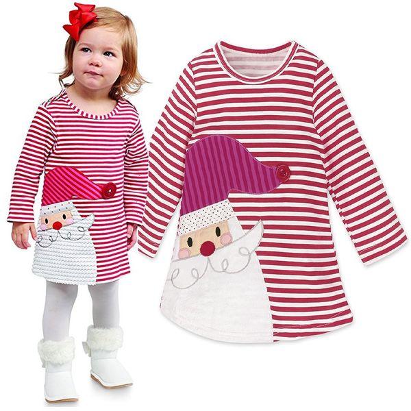 3550fa22e Disfraces de Navidad para bebés Vestido de niñas Vestidos de niños Ropa de  niña de rayas