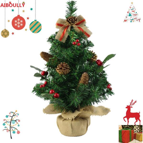 30cm 50cm Mini decorazioni per alberi di Natale Un piccolo albero di pino collocato negli ornamenti del desktop per la casa