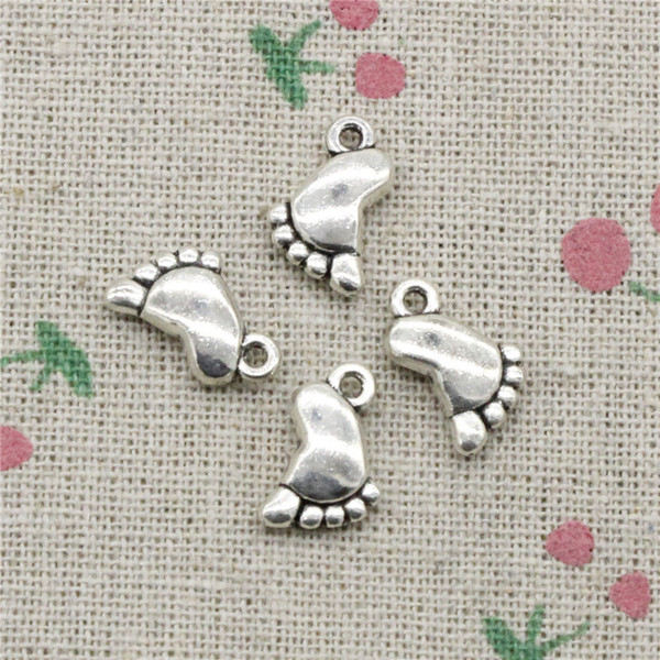 89pcs Charms double sided foot 14*10k masquerade mardi gras 31*12mm Tibetan Silver Vintage Pendants For Jewelry Making DIY Bracelet Necklace