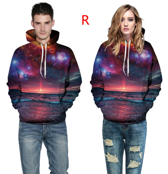 2 pcs 3d Puniverse printing Mens Hoodies and Sweatshirts Men Hooded Black White Lovers Sweetheart Clothing Pullovers Sudadera Hombre