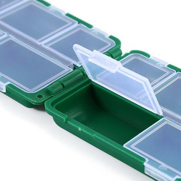 New 10 Compartments Fishing Tackle Storage Box Lure Spoon Hook Rig Bait Plastic Storage Case Fishing Accessories Tools