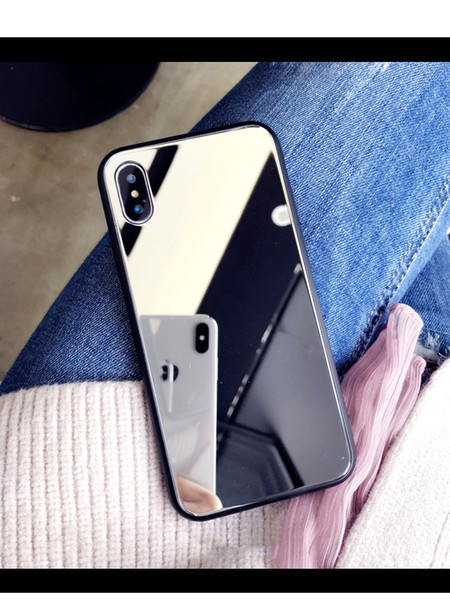 Lady Makeup mirror mobile phone case hot sell phone case for iphone 6 7 8 x