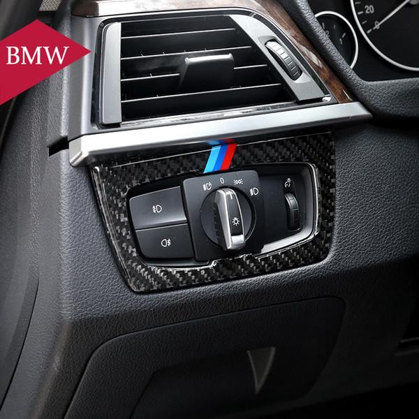 Steering Wheel Cover Trim Carbon Fiber Style Car Steering Wheel Decoration Cover Trim for BMW 3 Series F30 F31 F34 2013-2018 4 Series F32 2014-2018