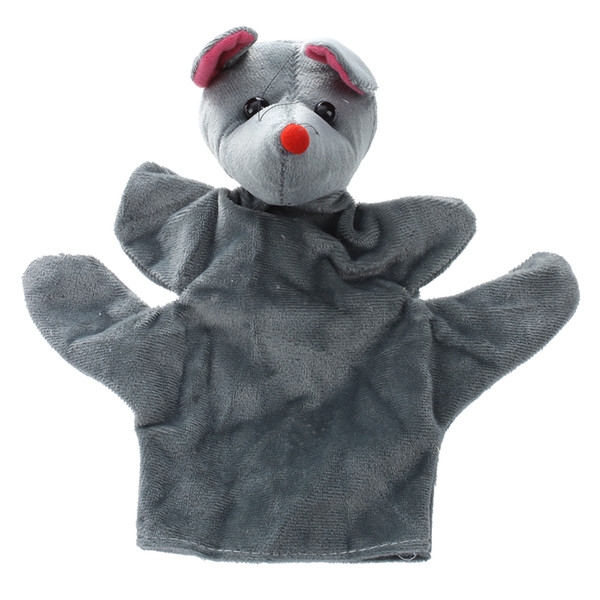 Cute Baby Child Zoo Farm Animal Hand Sock Glove Puppet Finger Sack Plush Toy NewModel:Mouse