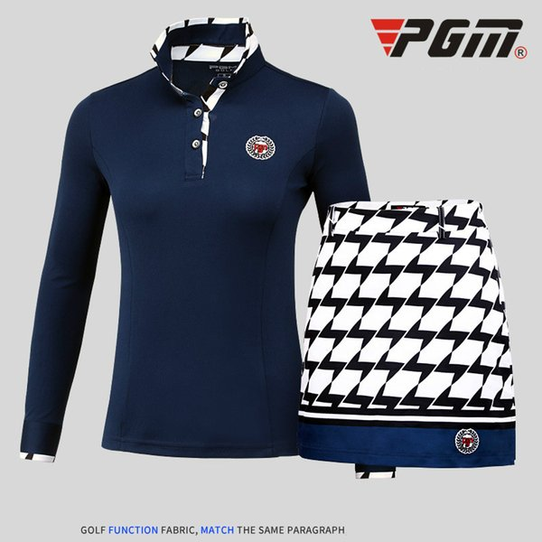 2018 PGM products style ladies T-shirts High Elastic golf long sleeved women's jerseys Slim sport apparel for women size S-XXL