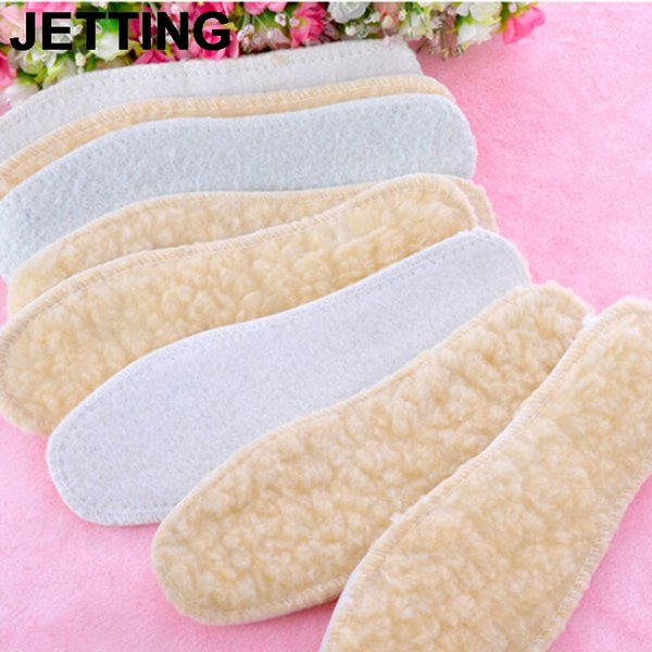 JETTING 1Pair New Arrival 25cm Winter Warm Thicken Fleece Insoles Shoes Insoles For Women Men