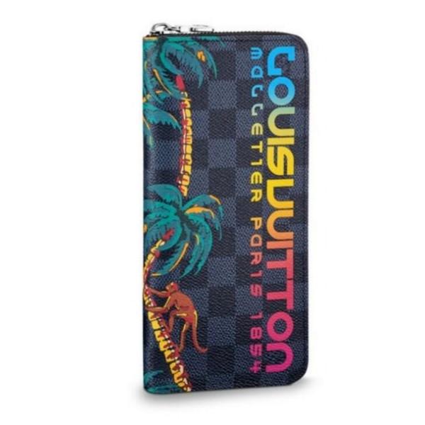 VERTICAL N60120 MEN PALM TREE ZIPPY WALLET PURSE BAG WALLETS PURSE Mini Clutches Exotics EVENING CHAIN Belt Bags