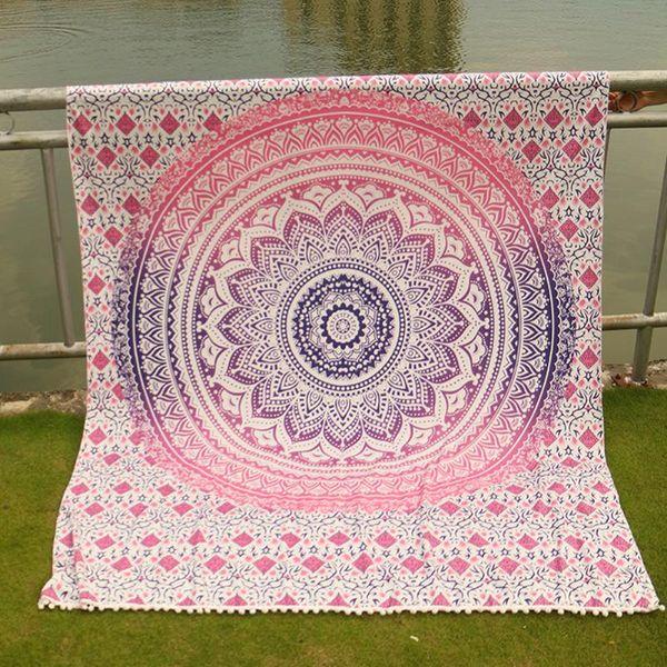 Serviette de yoga imprimée avec serviette de plage Toalla Circle Playa serviette de plage