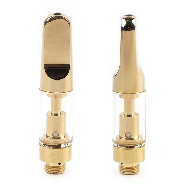 Golden TH105 Cartouche en céramique 0.5ml Gold Vape M6T Pyrex Réservoir en verre Vaporisateur Stylo A3 CE3 Head en céramique Coil Golden 510 Thread Cartridge