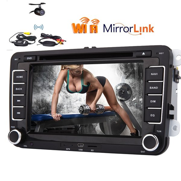1080p Car DVD Player for Volkswagen Car Stereo System GPS Navigation Canbus+GPS Map+Built-in wifi Module+Wireless Rear view Camera in dash