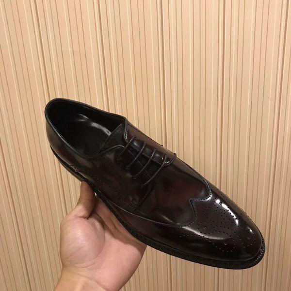 New Arrivals Men's Wedding Party Design Genuine Leather Shoes Unique Men Casual Shoes Lace Up Oxford Evening Formal Dress Shoes Size 38-44