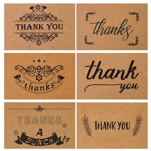 Teşekkürler, Kraft Kağıt Toplu Teşekkür Kartları, İç Boş Set, Teşekkür Kartları ve Zarflar içerir