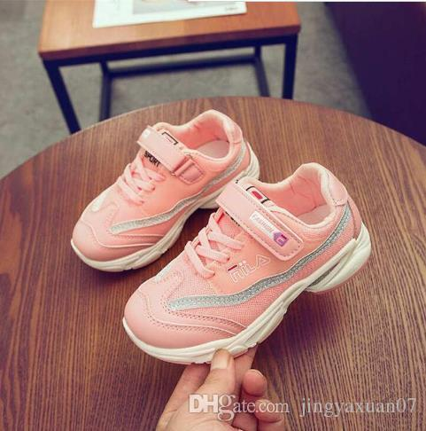 Baby Shoes Kids Shoes Girls and Boys Little Sports shoes student sports shoe Spring Autumn boys net shoe Size 26-37 Best Selling 301-1