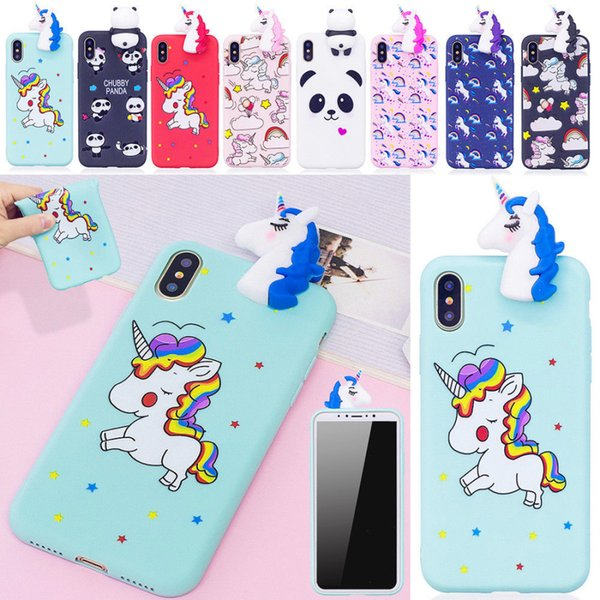 buy online 6f88f 38f17 Cute 3D Cartoon Unicorn Phone Case Cover Soft Silicone TPU For IPhone X 8 8  Plus 7 6 Plus Protective Cell Phone Cases Reiko Cell Phone Case From ...