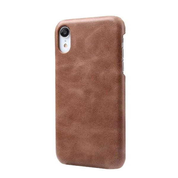 Genuine Leather Mobile Back Cover Case for iPhone XR XS MAX 8 7 Plus 6S Luxury Business Simple Leather Hybrid Plastic Phone Case
